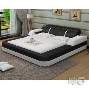 Ambassador Luxury Leather Bed 6 by 4.5 | Furniture for sale in Lagos State, Agege