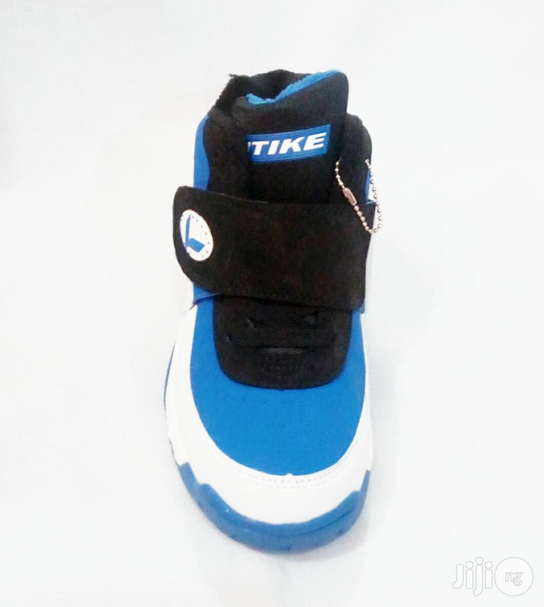 High Top Blue Black and White Canvas Sneakers for Kids | Children's Shoes for sale in Lagos Island (Eko), Lagos State, Nigeria