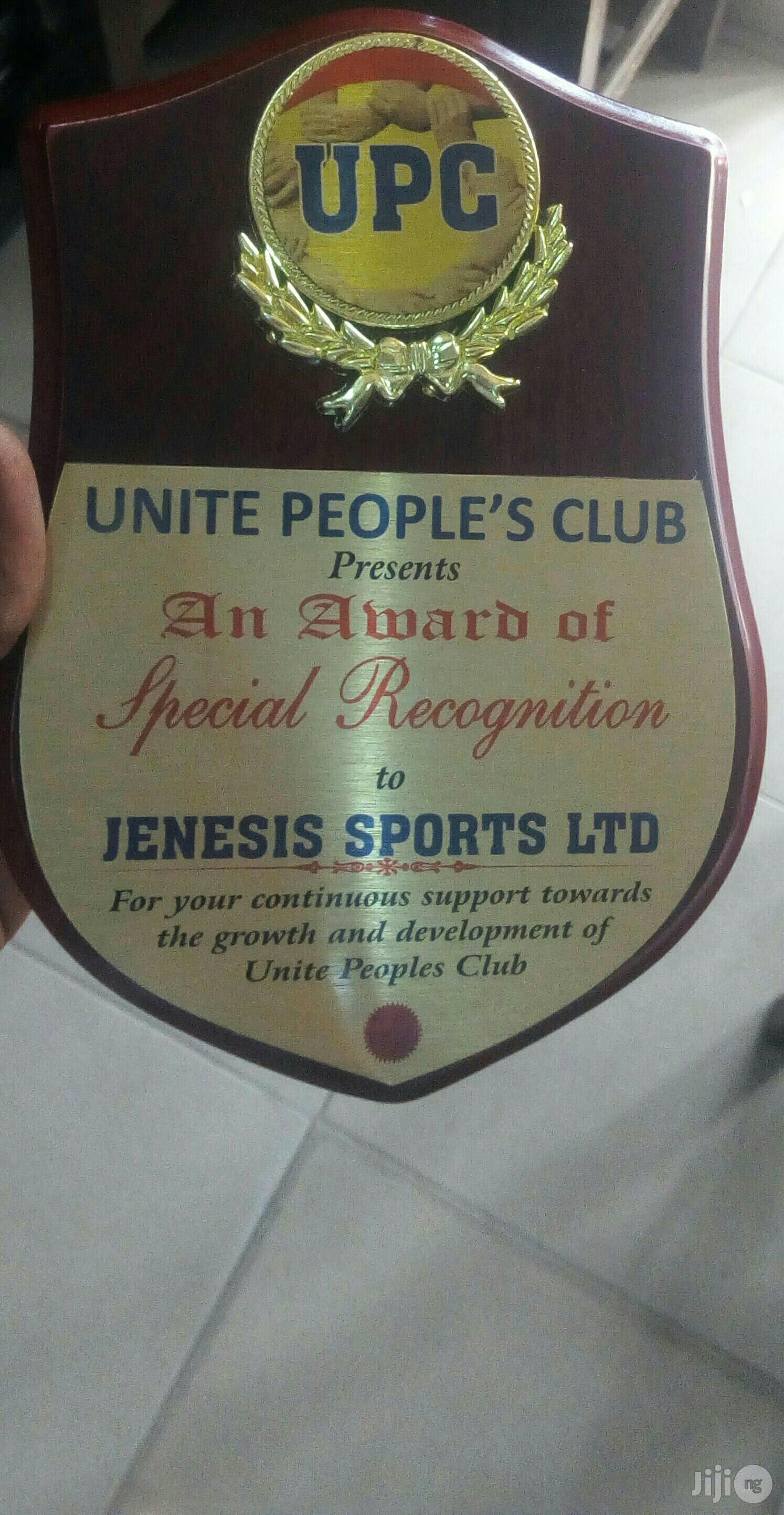 Wooden Plaque Award   Arts & Crafts for sale in Ikeja, Lagos State, Nigeria