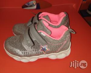 Ash and Pink Canvas Sneakers for Girls | Children's Shoes for sale in Lagos State, Lagos Island (Eko)