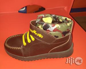 Brown High Top Canvas Sneakers   Children's Shoes for sale in Lagos State, Lagos Island (Eko)