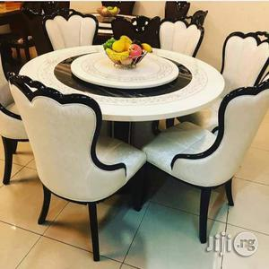 High Quality Marble Round Table With 6 Chairs | Furniture for sale in Abuja (FCT) State, Central Business District