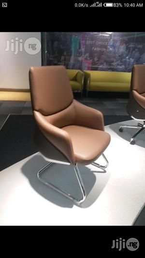 Light Brown Visitors Chair for Senior Management | Furniture for sale in Lagos State, Victoria Island