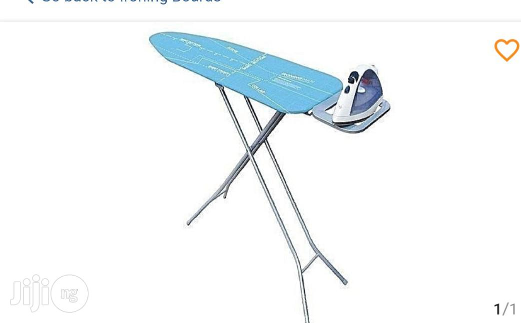 Generic Ironing Table With Iron