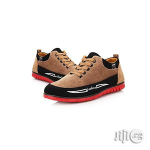 Fashion Breathable British Canvas Sneakers -Brown | Shoes for sale in Lagos State, Agege