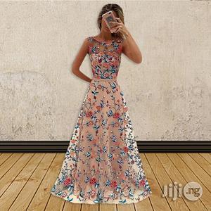 European Women Long Skirt Mesh Embroidery Dress | Clothing for sale in Lagos State, Ikeja