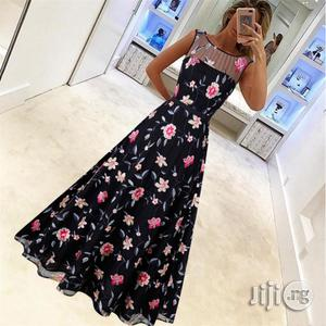 Luxury Retro High-end Dress Long Skirt Mesh Embroidery Dress   Clothing for sale in Lagos State, Ikeja