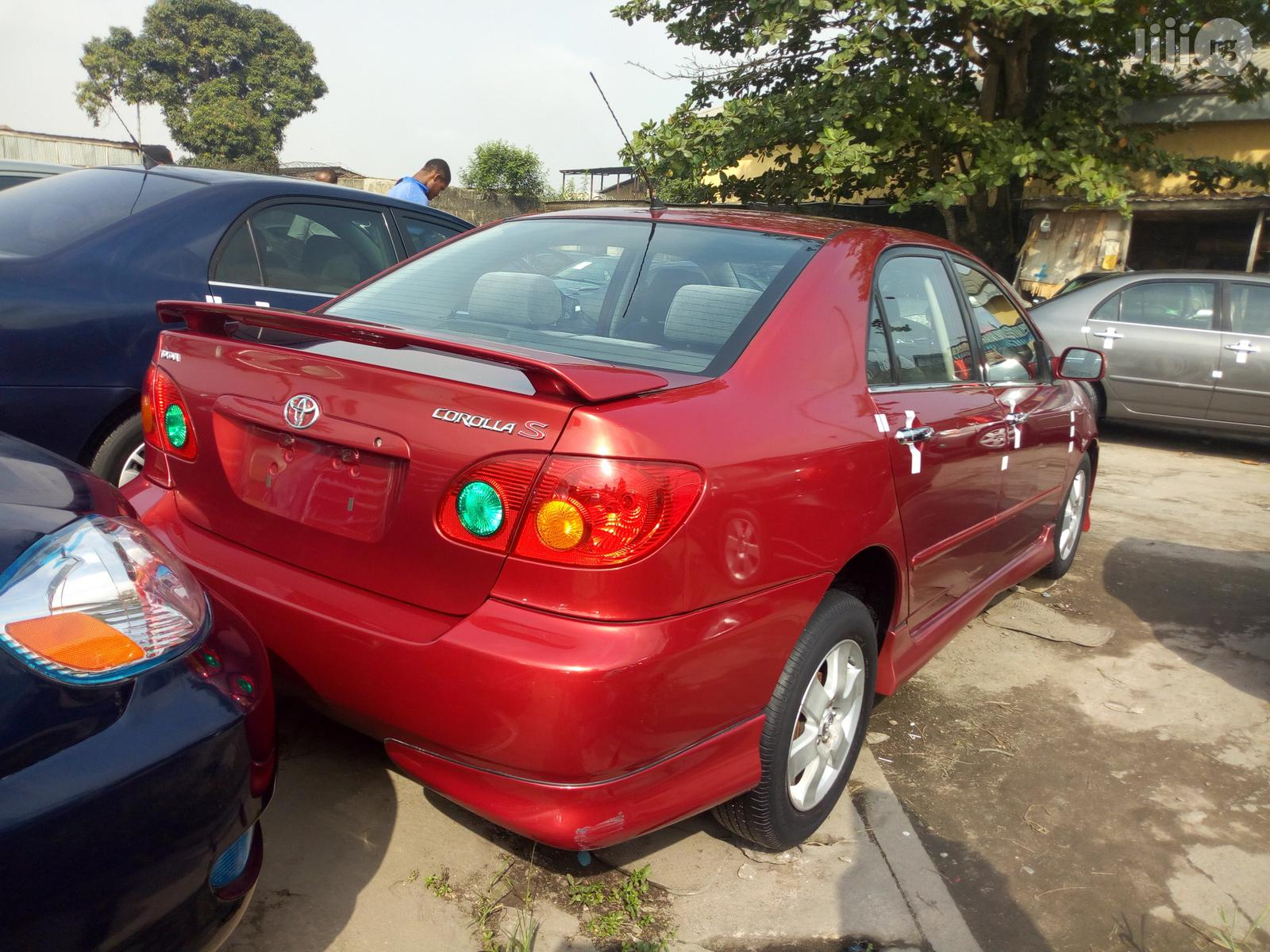 Toyota Corolla 2004 S Red | Cars for sale in Apapa, Lagos State, Nigeria