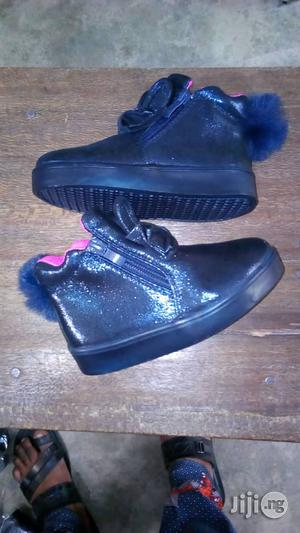 Black Ankle High Top Canvas Sneakers for Girls | Children's Shoes for sale in Lagos State, Lagos Island (Eko)