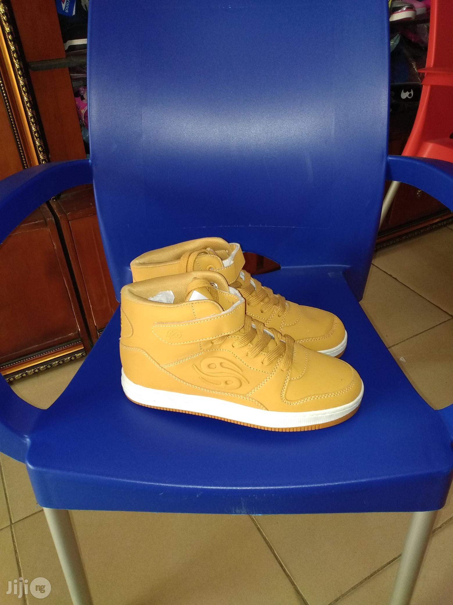 High Top Brown Ankle Canvas for Boys