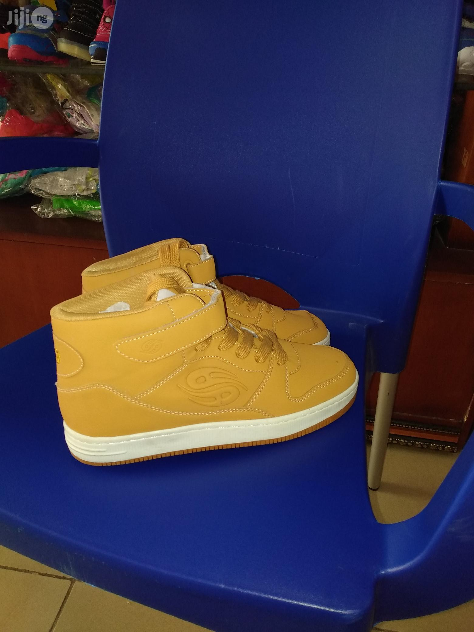 High Top Brown Ankle Canvas for Boys   Children's Shoes for sale in Lagos Island (Eko), Lagos State, Nigeria