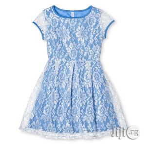 Girls Blue Lace Scuba Dress - 3/4yrs, 7/8yrs | Children's Clothing for sale in Lagos State, Surulere