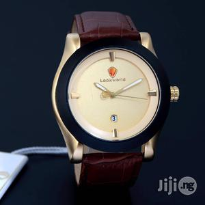 Lookworld Gold/Black Leather Strap Watch   Watches for sale in Lagos State, Lagos Island (Eko)