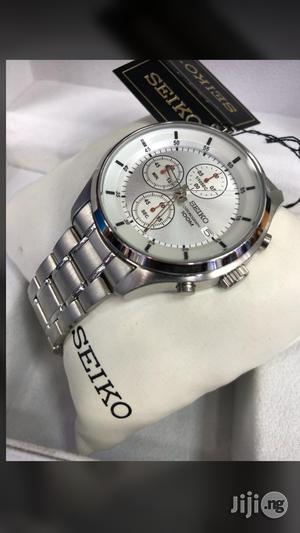 Seiko Eco Drive Chronograph Silver Chain | Watches for sale in Lagos State, Surulere