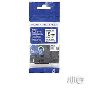 Compatible Brother Tape 18mm Black On White   Computer Accessories  for sale in Lagos State, Ikeja