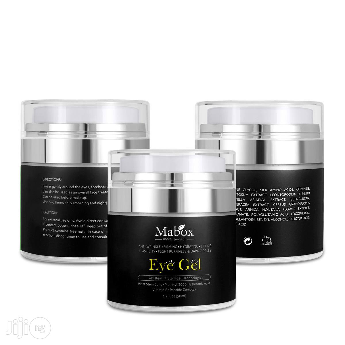 Mabox Natural Eye Gel For Appearance Of Dark Circles Puffiness Wrinkle   Skin Care for sale in Ikeja, Lagos State, Nigeria