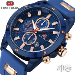 Army Military Mini Focus Silicone Strap Wrist Watch Male Blue Clock   Watches for sale in Lagos State, Ikeja