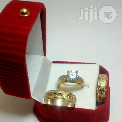 Mentol Gold Wedding Ring Set