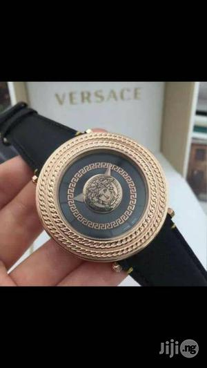 Versace Rose Gold Leather Strap Watch for Unisex | Watches for sale in Lagos State, Lagos Island (Eko)