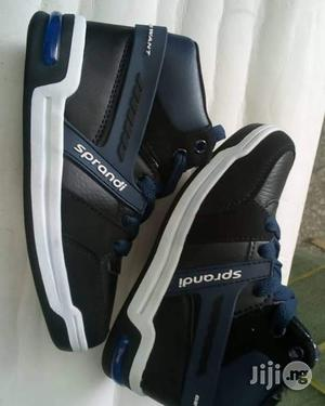 Navy Blue High Top Canvas Sneakers for Boys | Children's Shoes for sale in Lagos State, Lagos Island (Eko)