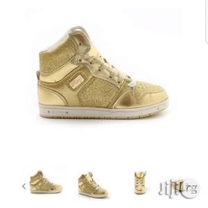 Gold Colored High Top Canvas Sneakers   Children's Shoes for sale in Lagos State, Lagos Island (Eko)