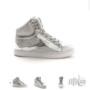 Silver High Top Canvas Sneakers for Kids   Children's Shoes for sale in Lagos State, Lagos Island (Eko)
