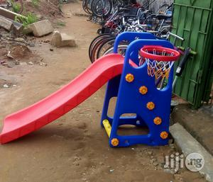 Brand New Children Single Slide With Basketball Post   Toys for sale in Lagos State, Ikeja
