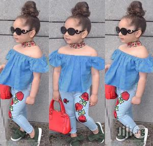 Baby Girl Off Shoulder Top and Jean Trouser   Children's Clothing for sale in Lagos State, Surulere