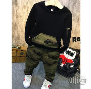 Boys Adorable Camo Inspired Jogger Set   Children's Clothing for sale in Lagos State, Surulere
