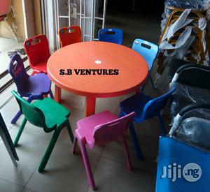 Children Plastic Table And 6pcs Chairs   Children's Furniture for sale in Lagos State, Isolo