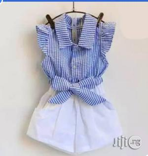Unique Girls Flair Hand Top and 4button Short   Children's Clothing for sale in Lagos State, Surulere