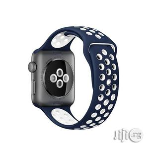 Apple Watch Band 42mm, Soft Silicone Replacement Sports Ban   Smart Watches & Trackers for sale in Lagos State, Ikeja
