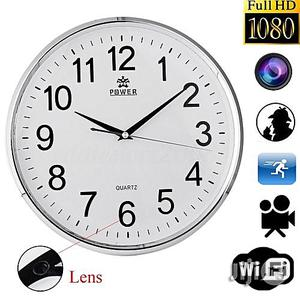 Wifi Spy Wall Clock Wireless Hidden HD Video Camera | Security & Surveillance for sale in Lagos State, Ikeja
