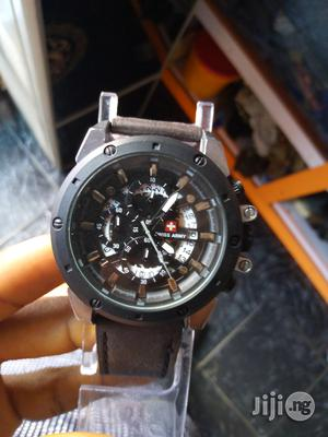 Swiss Army Pure Leather Watch   Watches for sale in Rivers State, Port-Harcourt