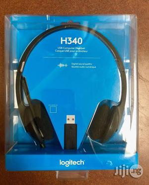 Logitech H340 USB Computer Headset | Headphones for sale in Rivers State, Port-Harcourt