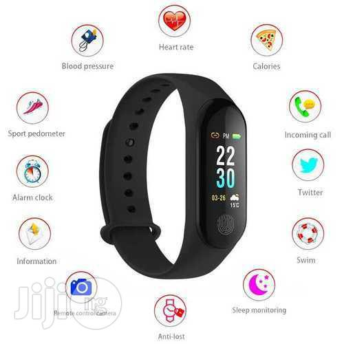 M3 Smart Bracelet Fitness Tracker Heart Rate Monitor Waterproof Bracelet Band   Smart Watches & Trackers for sale in Ikeja, Lagos State, Nigeria