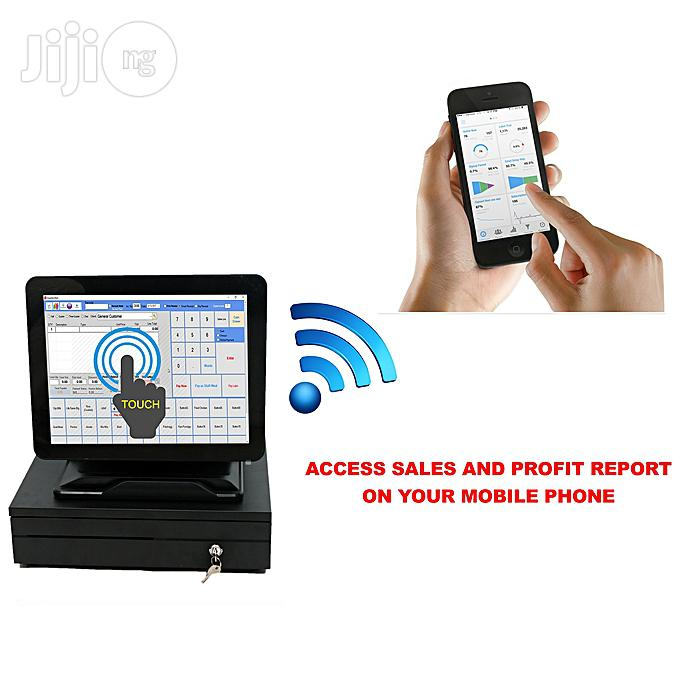 ALL IN ONE POS Touch Screen Computer + Cash Drawer + Receipt Printer + Barcode Scanner + POS Software + Mobile Report Alert | Store Equipment for sale in Ikeja, Lagos State, Nigeria