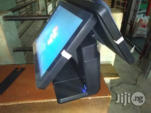 Hybrid All-in-one POS Machine 128gb Ssd, 4gb Ram Touch Screen Dual Screen | Store Equipment for sale in Lagos State, Ikeja