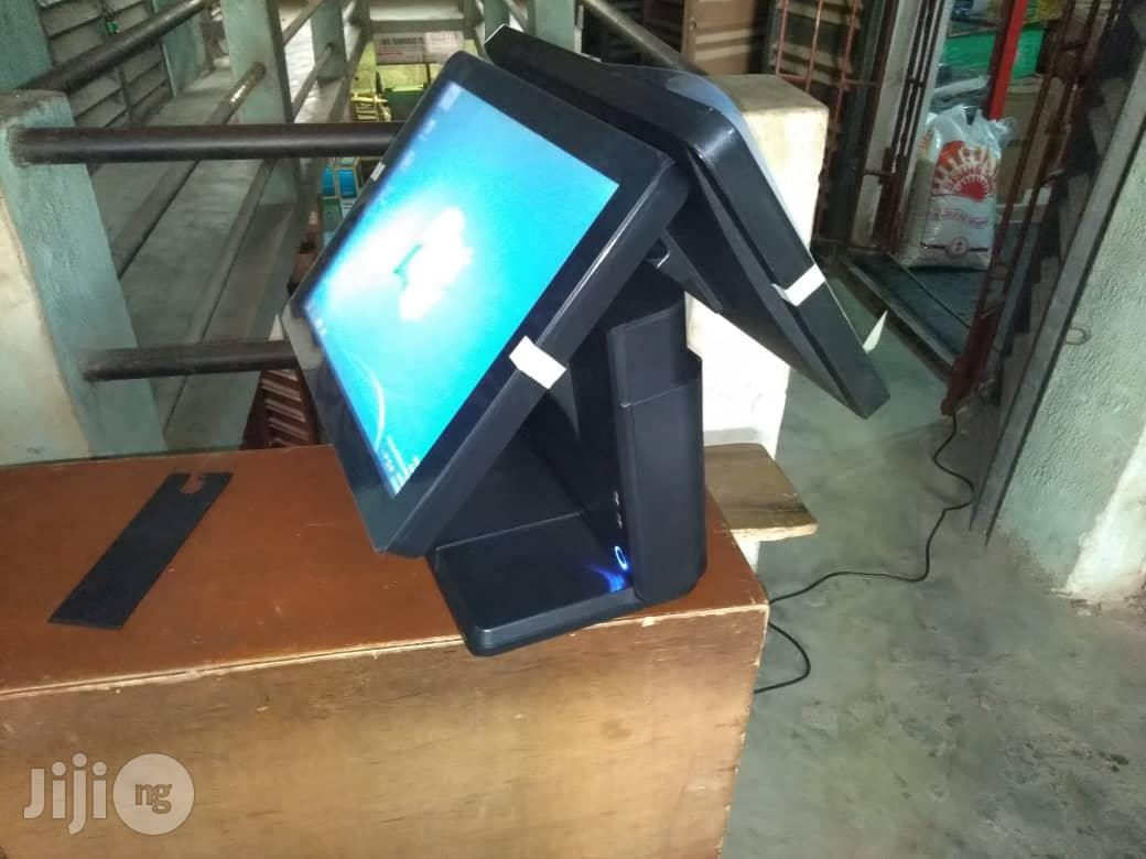 Hybrid All-in-one POS Machine 128gb Ssd, 4gb Ram Touch Screen Dual Screen   Store Equipment for sale in Ikeja, Lagos State, Nigeria