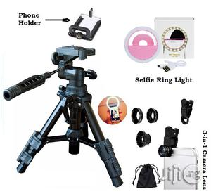 Portable Mini Tripod Stand With Free Telescope and Selfie Ring Light | Accessories & Supplies for Electronics for sale in Lagos State, Ikeja