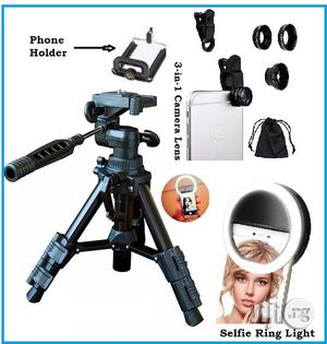 Portable Stripod Stand With Free Telescope and Selfie Light | Camping Gear for sale in Lagos State, Ikeja