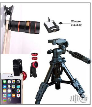 Mini Tripod Stand + Free Telescope and 3 in 1 Selfie Ring Light   Accessories & Supplies for Electronics for sale in Lagos State, Ikeja