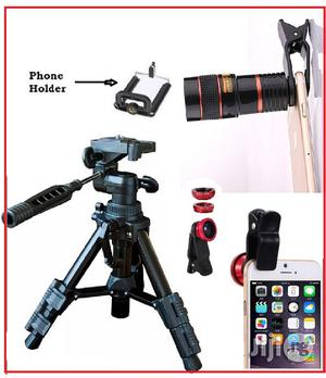 Portable Tripod Stand With Mobile Telescope and Selfie Ring Light | Accessories & Supplies for Electronics for sale in Lagos State, Ikeja