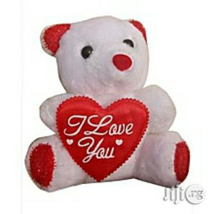 Generic Teddy Bear Valentine Gift I Love U White And Red | Toys for sale in Lagos State, Magodo