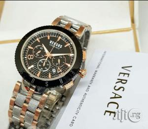 Versace Chronograph Rose/Silver Black Head Chain Watch   Watches for sale in Lagos State, Lagos Island (Eko)