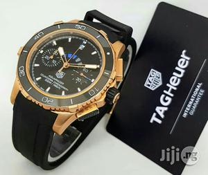 Tag Heuer Chronograph Rose Gold Rubber Strap Watch   Watches for sale in Lagos State, Lagos Island (Eko)