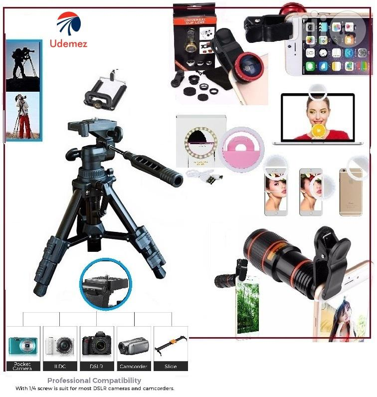 3 In 1 Ring Light, Camera Selfie Light, Mobile Telescope With Portable Tripod Stand