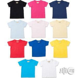 100% Cotton Tee Shirt For Children (Wholesale Only) | Children's Clothing for sale in Lagos State