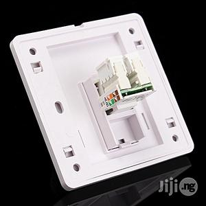 RJ45 Cat5e Socket Faceplate Network LAN Keystone Cable Wall Jack Clip Module 86x86mm | Accessories & Supplies for Electronics for sale in Lagos State, Ikeja