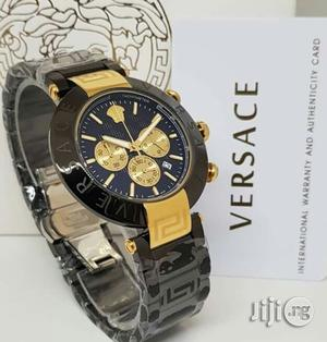 Versace Chronograph Gold/Black Chain Watch   Watches for sale in Lagos State, Lagos Island (Eko)
